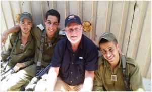 Bart at Gaza with the Commander's friend